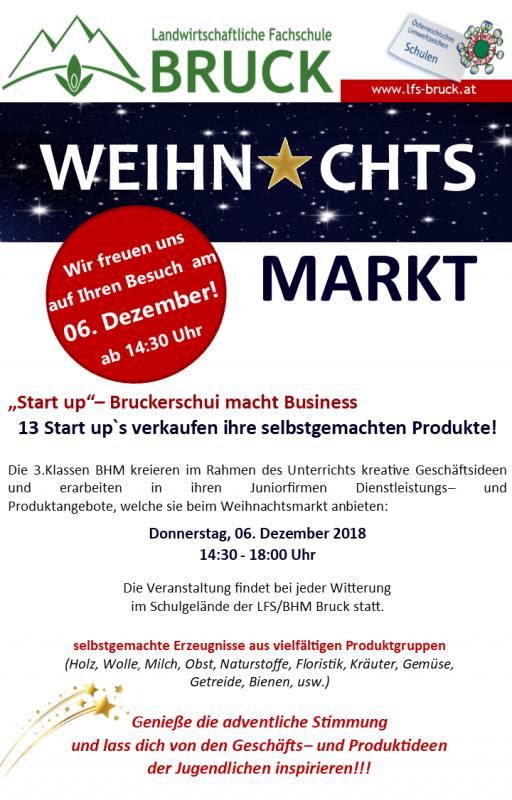 Start up Weihnachtsmarkt Einladung 2018