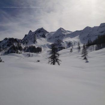 Berge (Drei Brüder) im Schnee